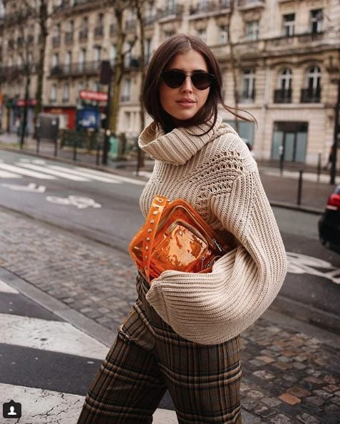 fall outfit ideas including knitted sweaters