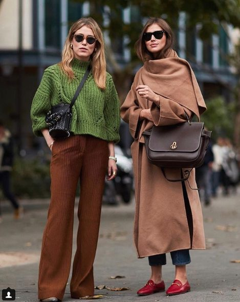 fall outfit ideas including knitted sweaters and camel coat outfits