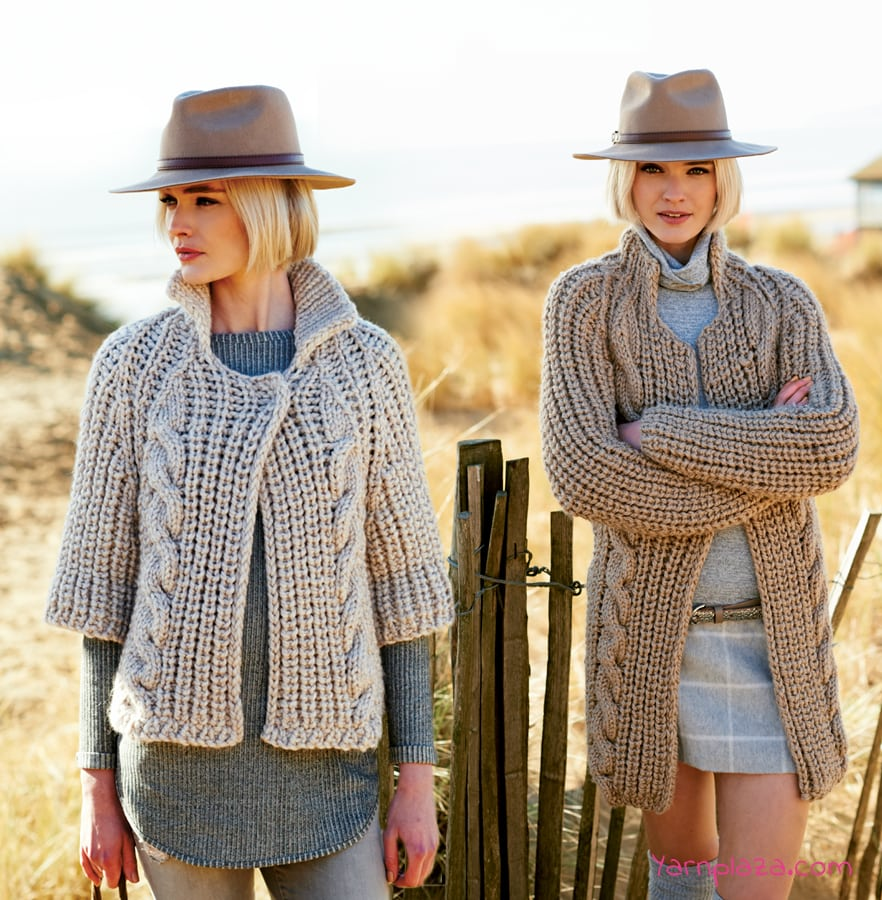 cable twist knitted cardigan