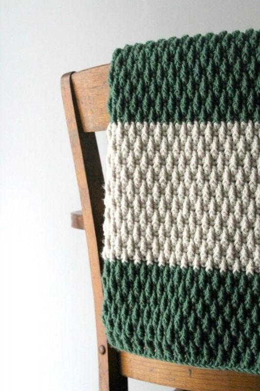 knitted alpine blanket