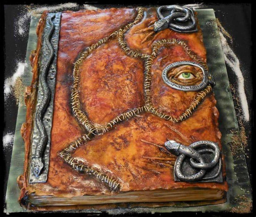 hocus pocus spell book cake
