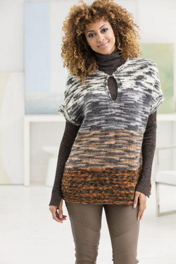 classic knits for fall include this knitted pullover vest