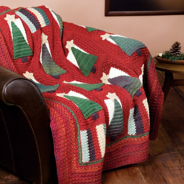 Christmas throw pattern
