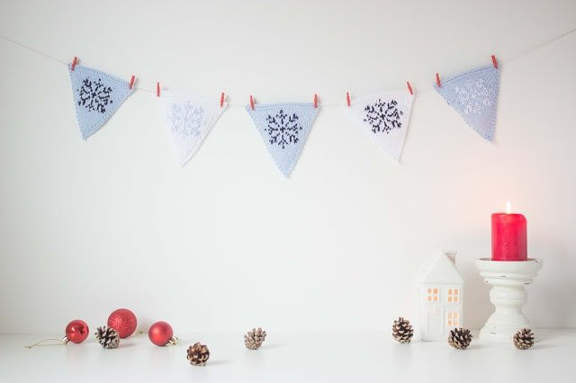 Christmas bunting free pattern