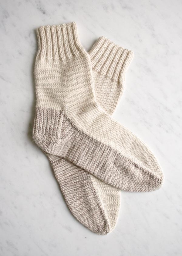 Seamed sock pattern