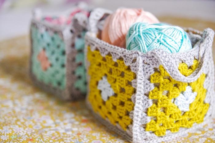 Crochet-granny-basket