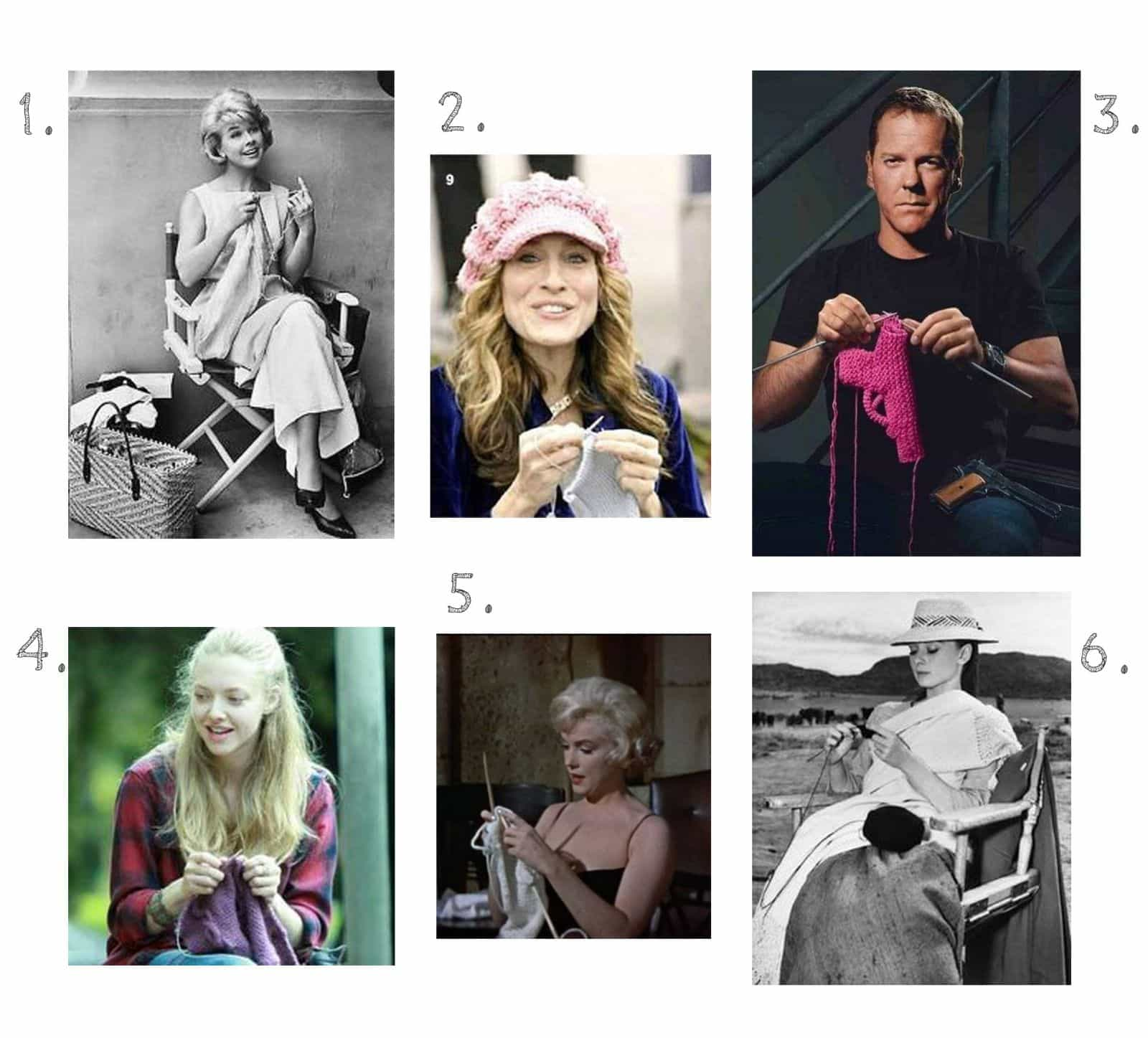 celebs who knit