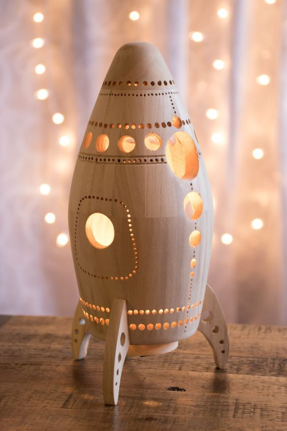 rocket ship night light
