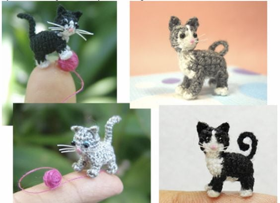 micro kitty crochet pattern