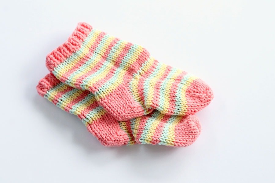 baby sock knitting pattern