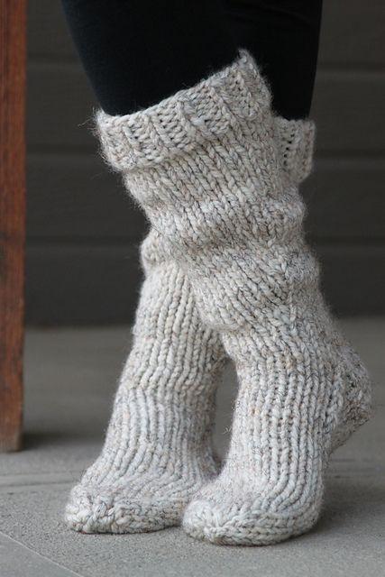 Chunky socks knitting pattern free