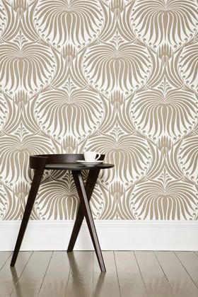 gold printed patterned wallpaper fall home decor