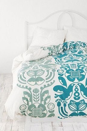 printed textiles and bed linen