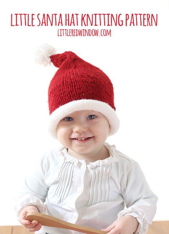 knitted Santa hat for kids