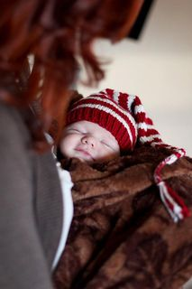 newborn striped elf hat