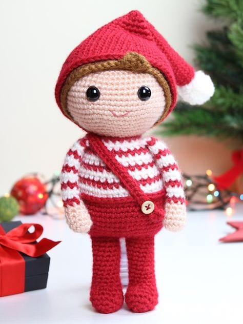 crochet+christmas+elf