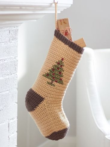crochet+christmas+stocking+free+pattern