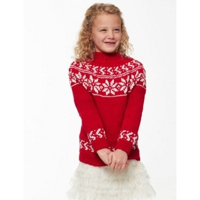 Red and white knit Christmas sweater