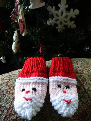 snowman santa mittens