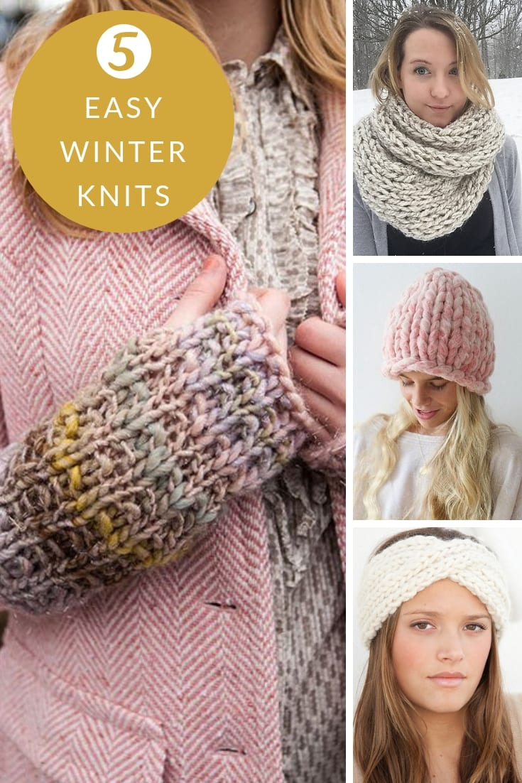 easy winter knitting patterns