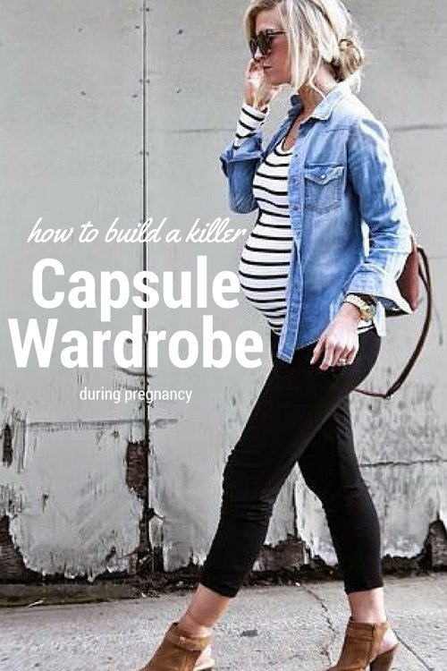 Pregnancy capsule wardrobe ideas