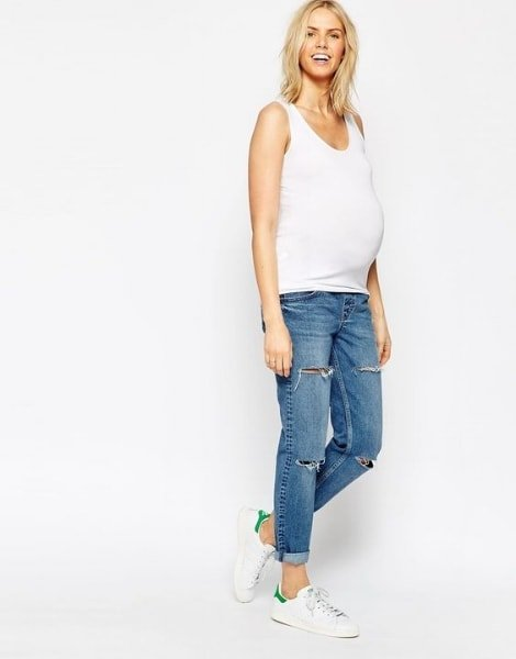 casual pregnancy outfit ideas