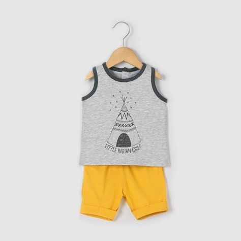 summer baby shorts and tee set