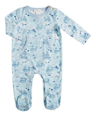 blue baby footie pyjamas