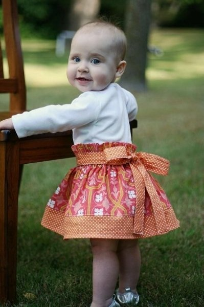 Cotton printed baby skirt