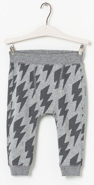 Grey printed baby pants