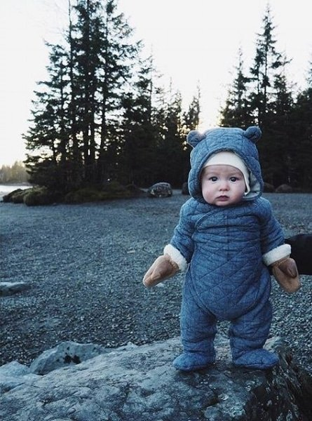 Winter baby snowsuit