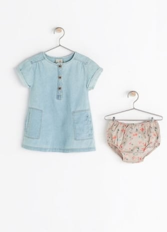 Denim baby dress