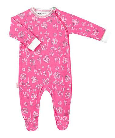 pink baby footie pyjamas