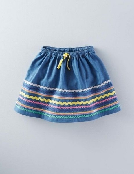 Denim baby skirt