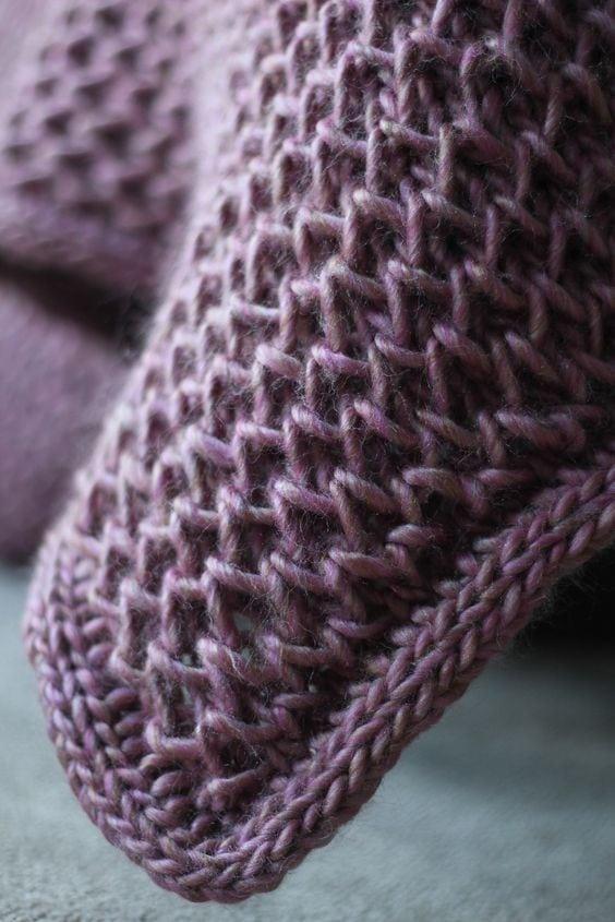 waffle blanket pattern