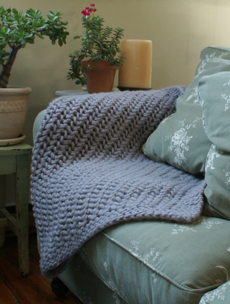 lacy knit throw
