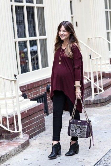 fall maternity tunic