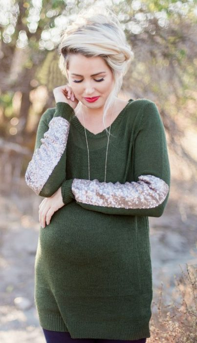 fall maternity sweater