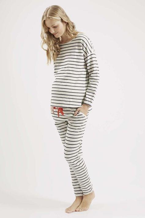 striped maternity pyjamas