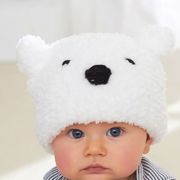 Kids Hat Patterns. baby polar bear hat ... dd4ee98658e