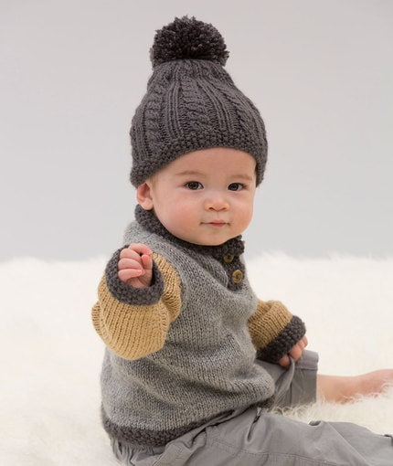baby cable hat