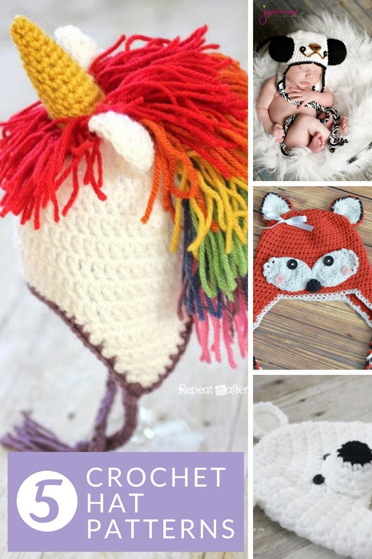 Crochet-Animal-Hat-Patterns-For-Kids