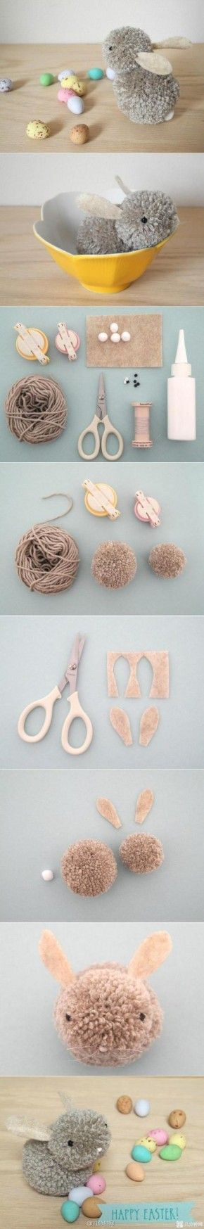 Pom Easter bunny DIY