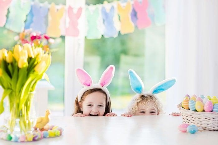 children wearing bunny ears headbands