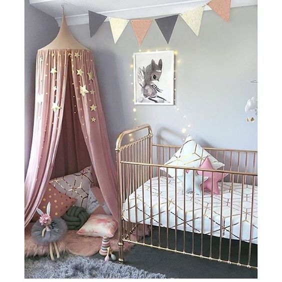 rose gold nursery ideas