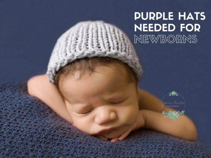 Purple Hats For Newborns