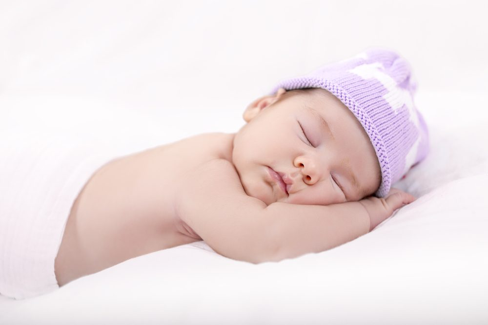Purple hat for baby