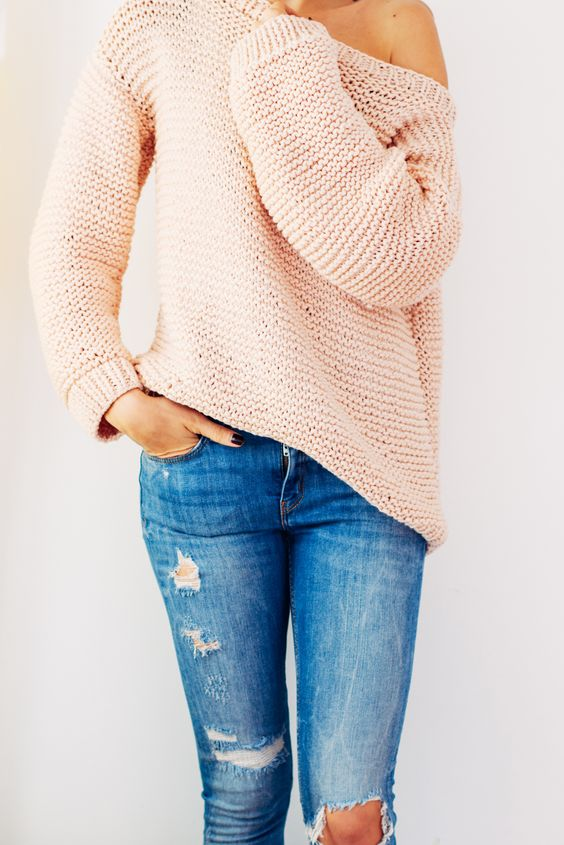 baggy sweater pink