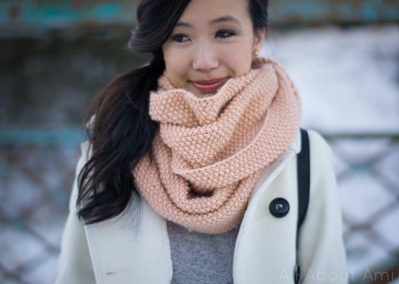 seed stitch scarf