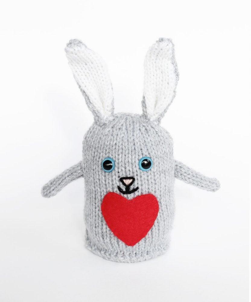 Plush Bunny Toy Knitting Pattern